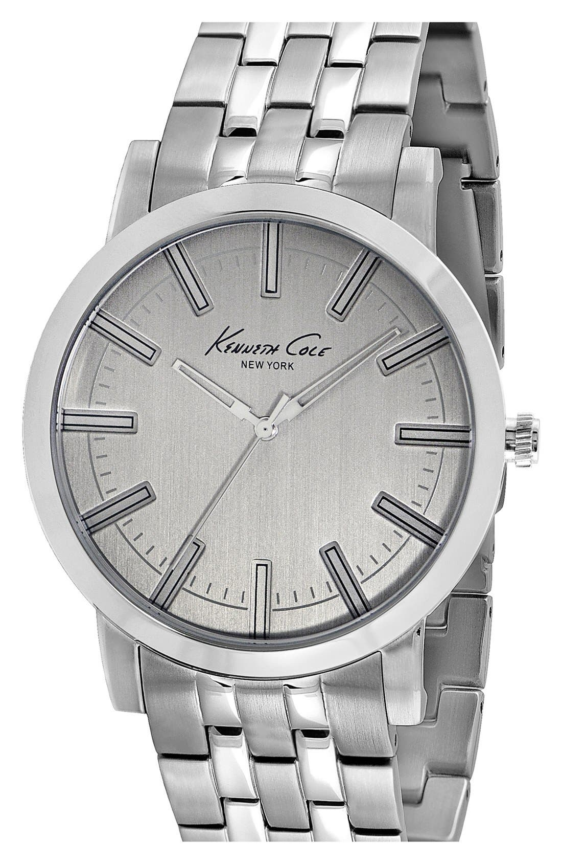Main Image - Kenneth Cole New York Slim Bracelet Watch, 42mm