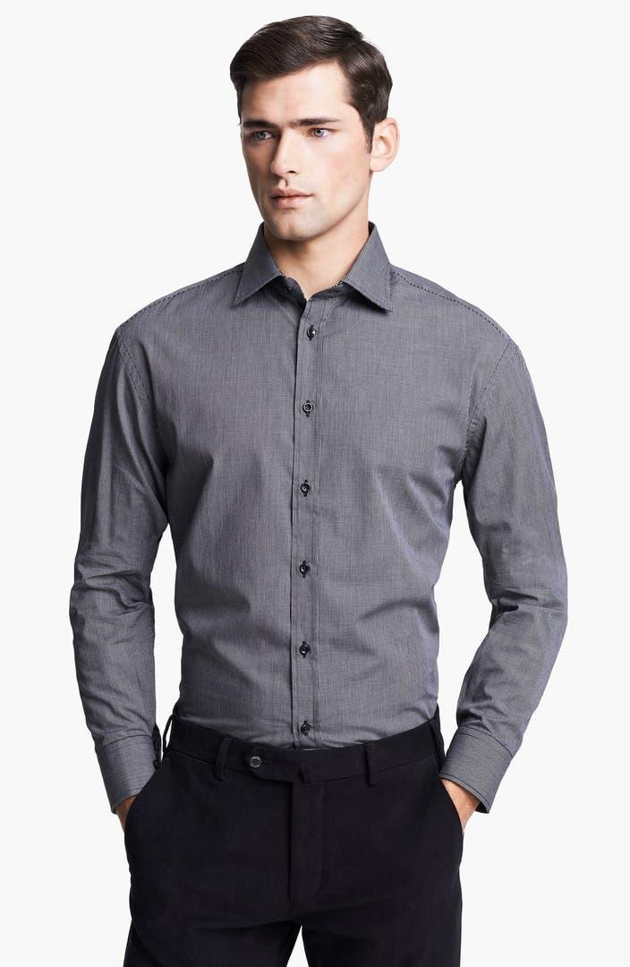 Armani collezioni modern fit dress shirt nordstrom for Modern fit dress shirt