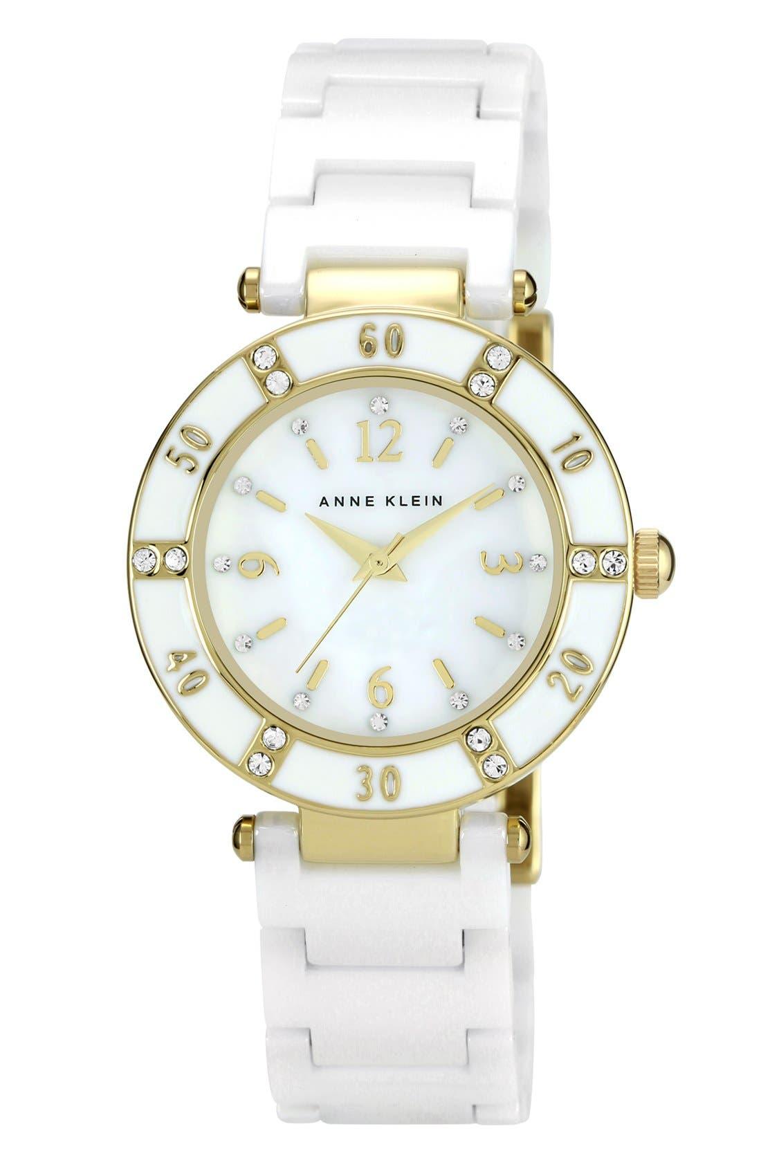 Main Image - Anne Klein Round Ceramic Bracelet Watch
