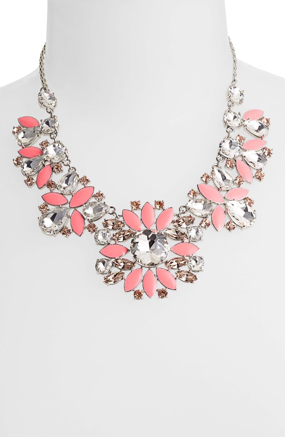 Alternate Image 2  - kate spade new york 'frosty floral' short bib necklace
