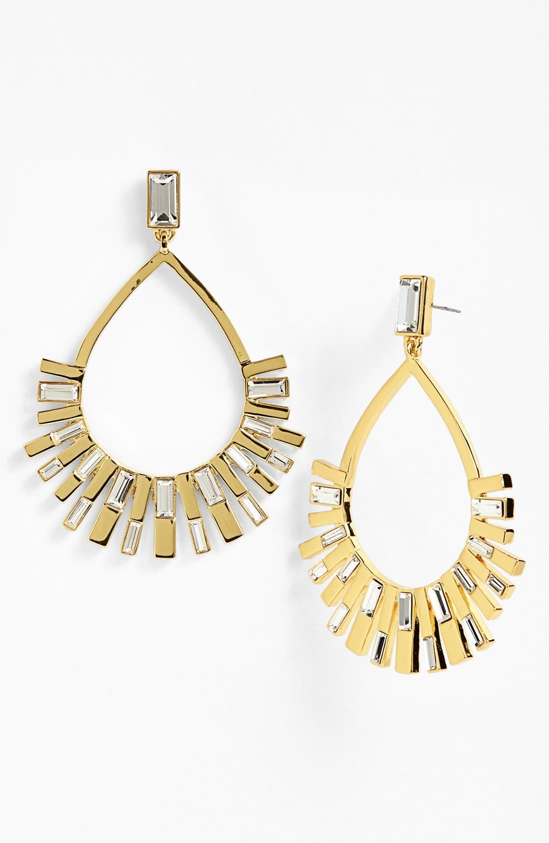 Main Image - Vince Camuto 'Crystal Clear' Baguette Crystal Drop Earrings