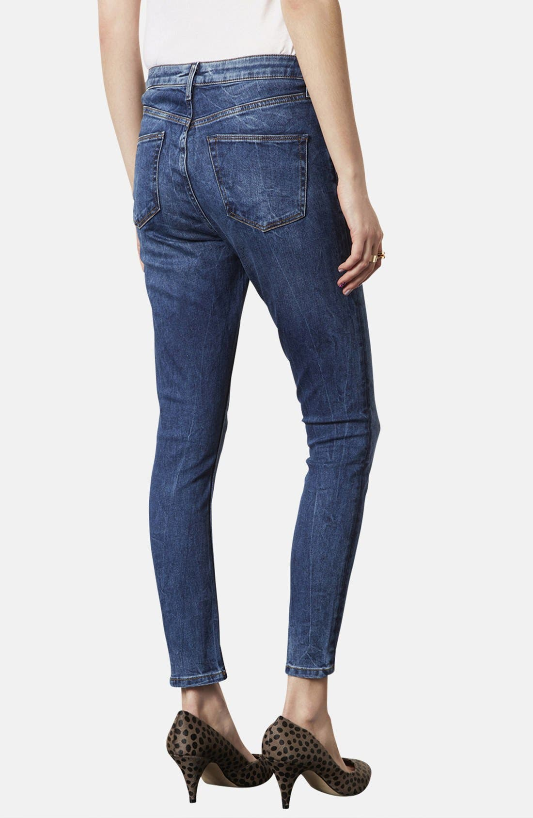 Alternate Image 2  - Topshop 'Jamie' Skinny Jeans (Regular, Short & Long)