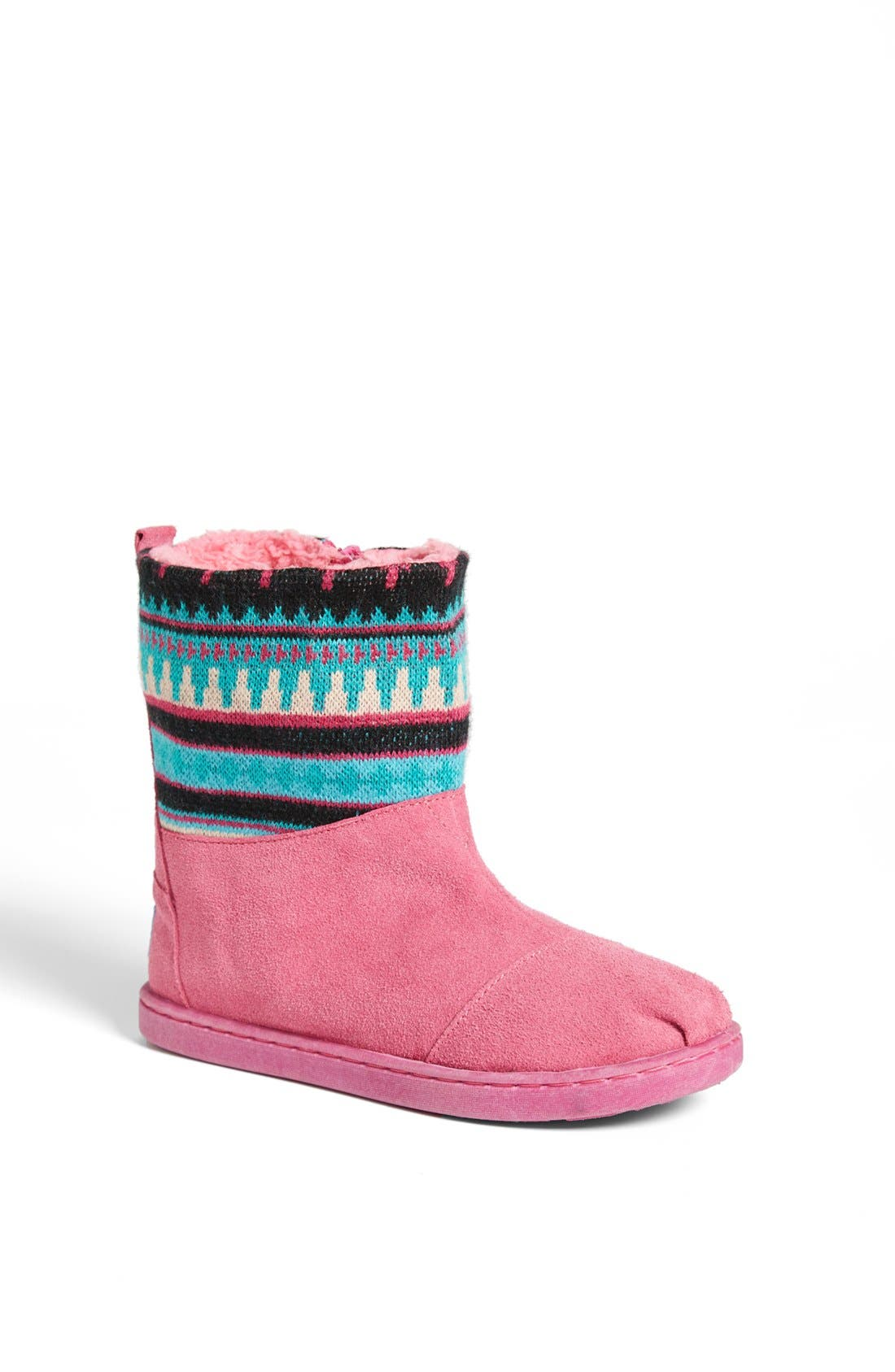 Main Image - TOMS 'Nepal - Youth' Knit Shaft Boot (Toddler, Little Kid & Big Kid)