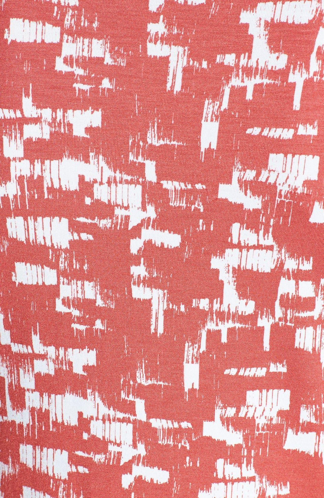 Alternate Image 3  - St. John Yellow Label Pleat Neck Geo Print Jersey Tee
