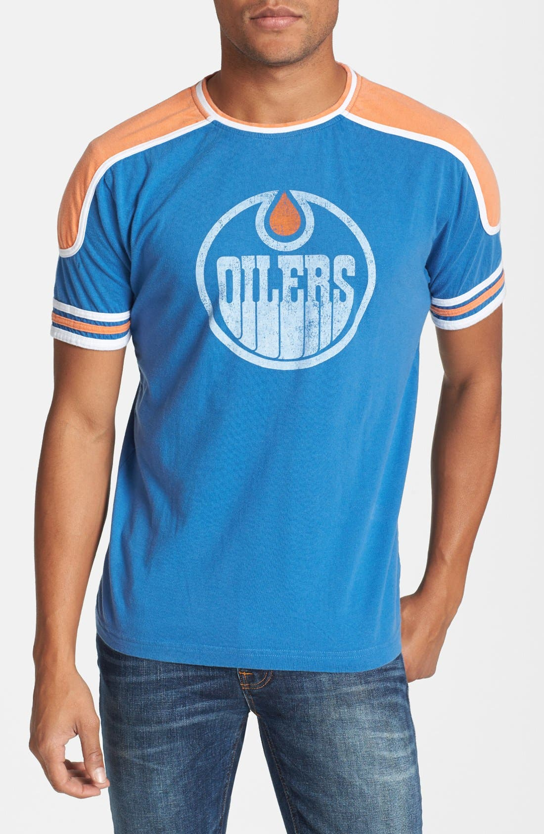 Main Image - Red Jacket 'Edmonton Oilers - Remote Control' Athletic Fit T-Shirt