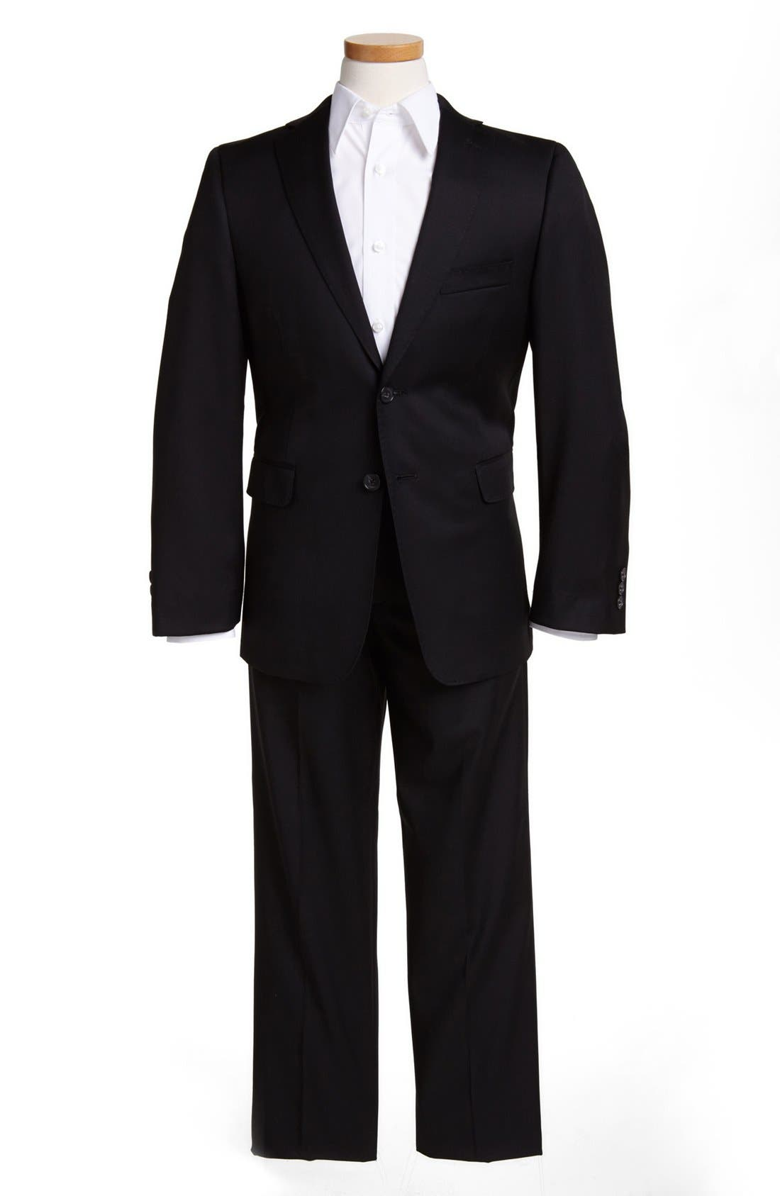 Main Image - Hickey Freeman Two-Piece Suit (Big Boys)
