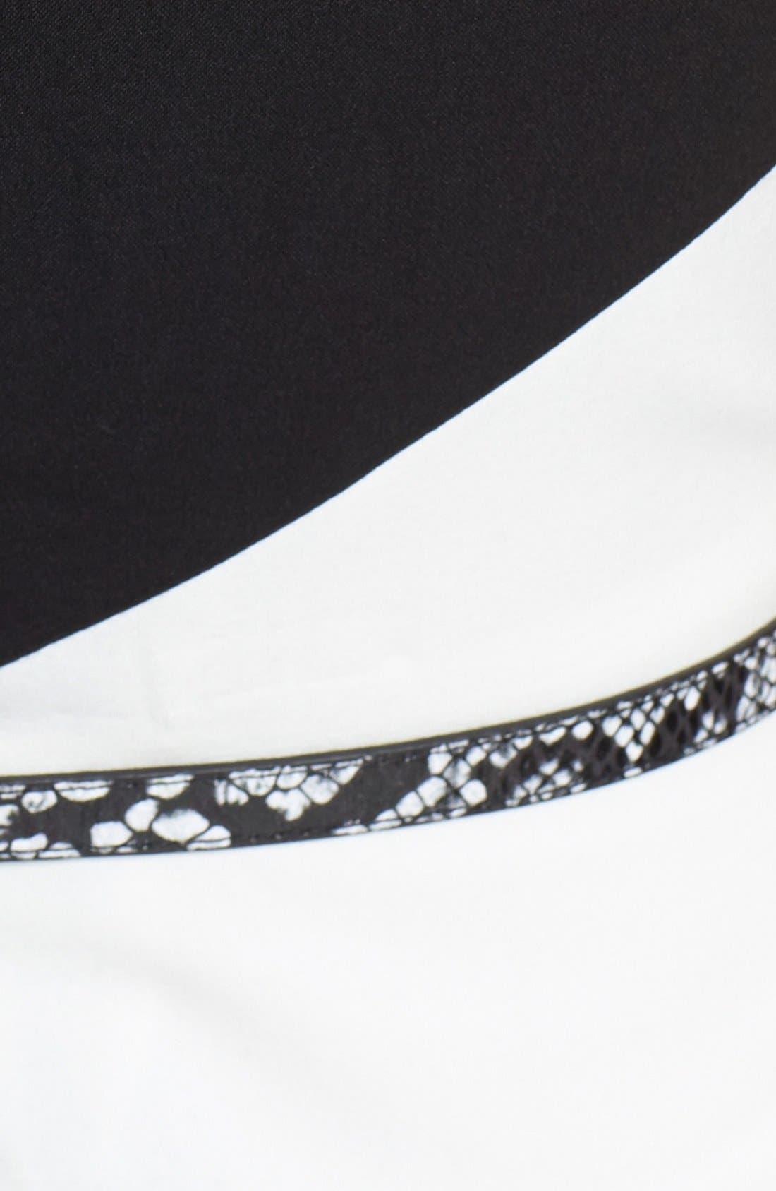 Alternate Image 3  - Calvin Klein Belted Colorblock Sheath Dress