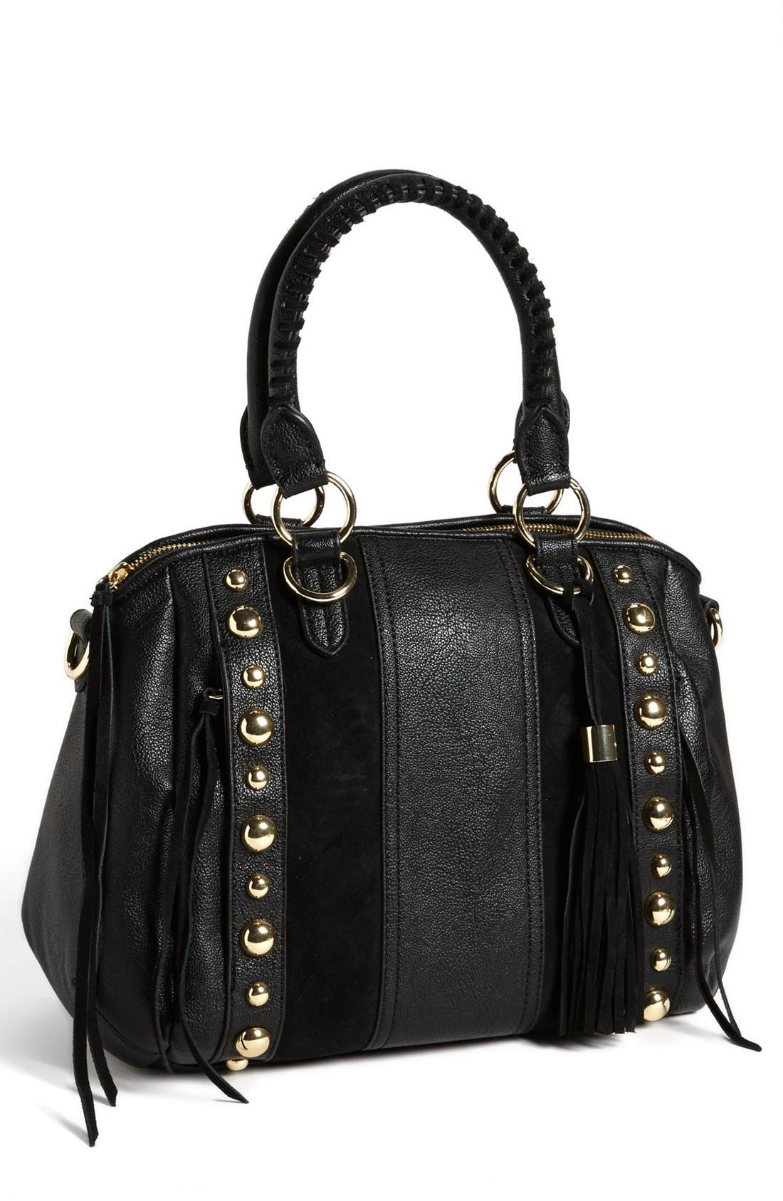 Alternate Image 1 Selected - Jessica Simpson 'Karina' Faux Leather Satchel