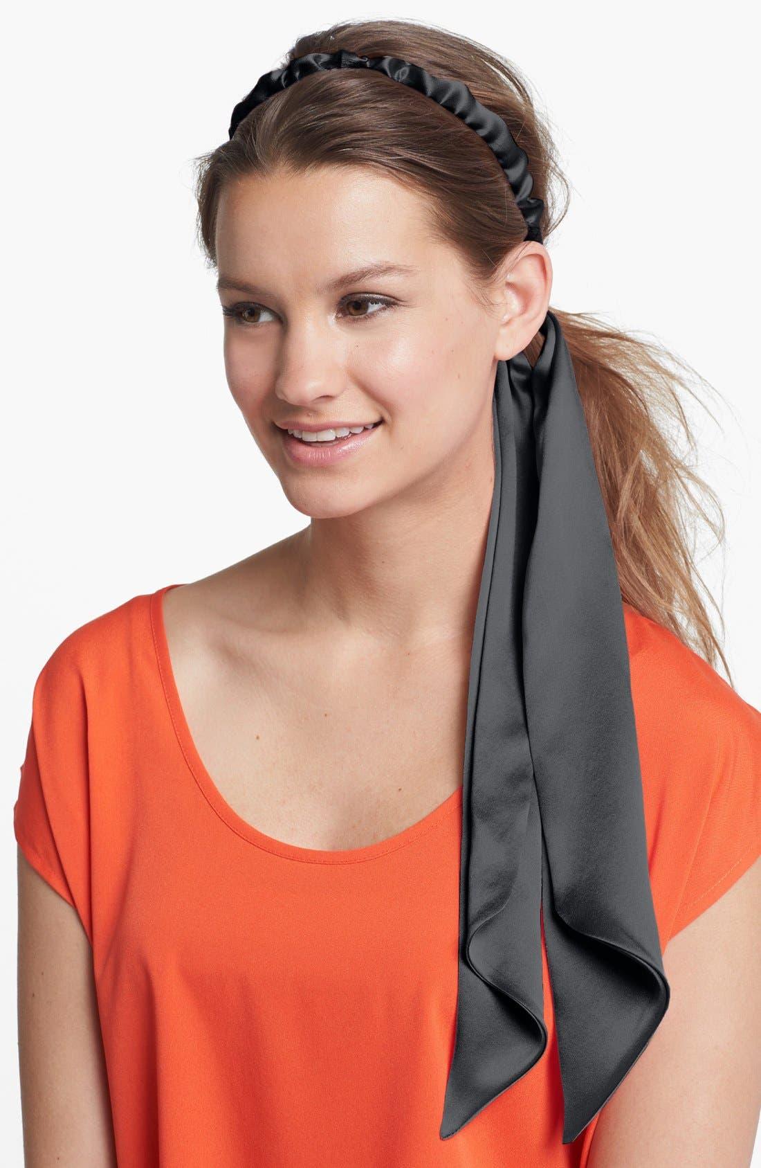 Alternate Image 1 Selected - L. Erickson Silk Head Wrap