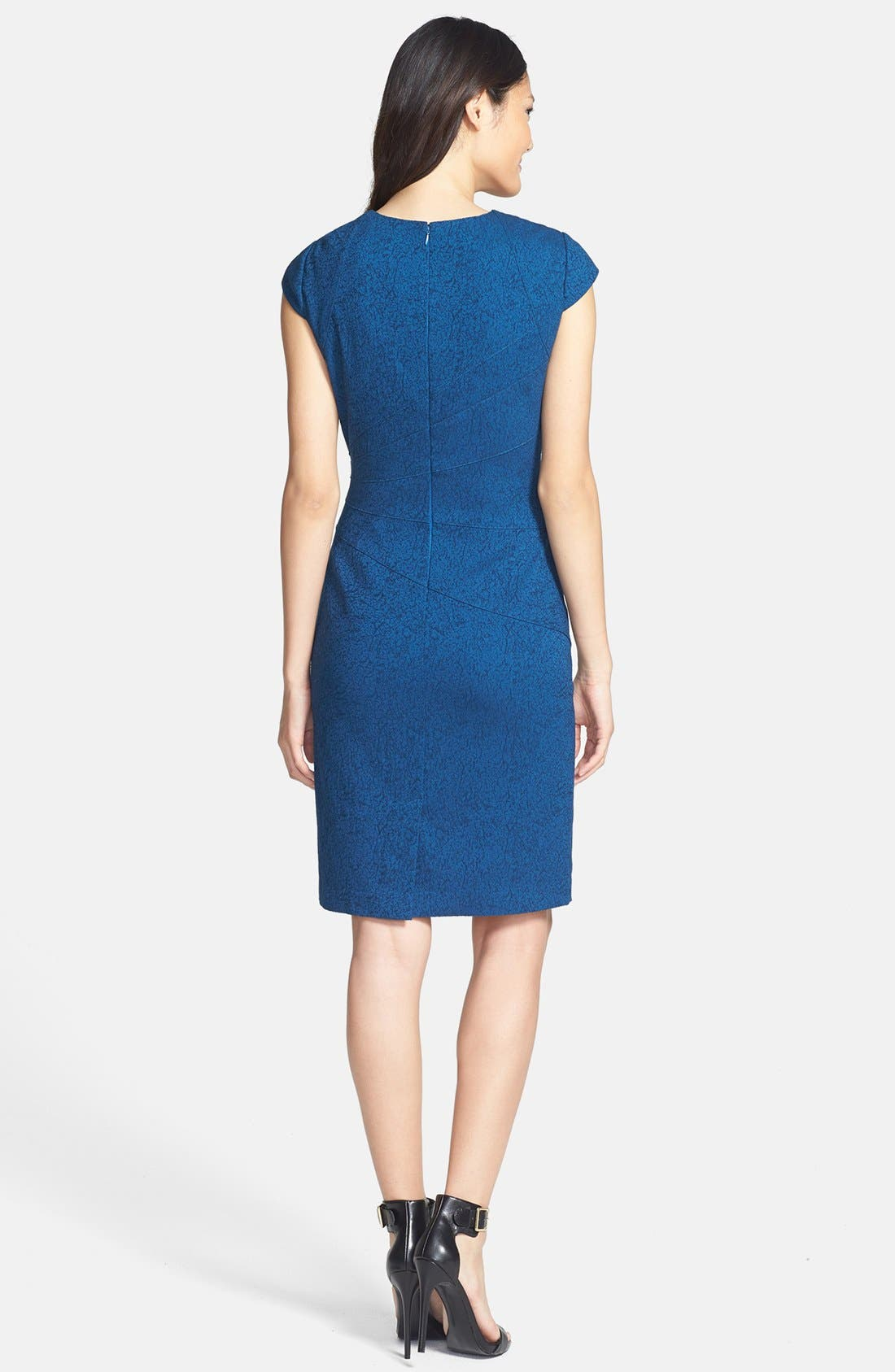 Alternate Image 2  - Adrianna Papell Jacquard Sheath Dress