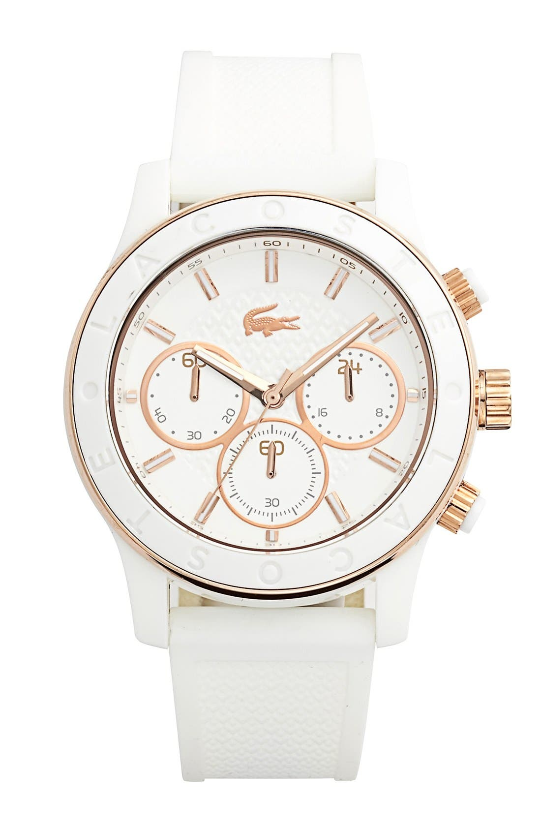 Alternate Image 1 Selected - Lacoste Chronograph Silicone Strap Watch, 40mm