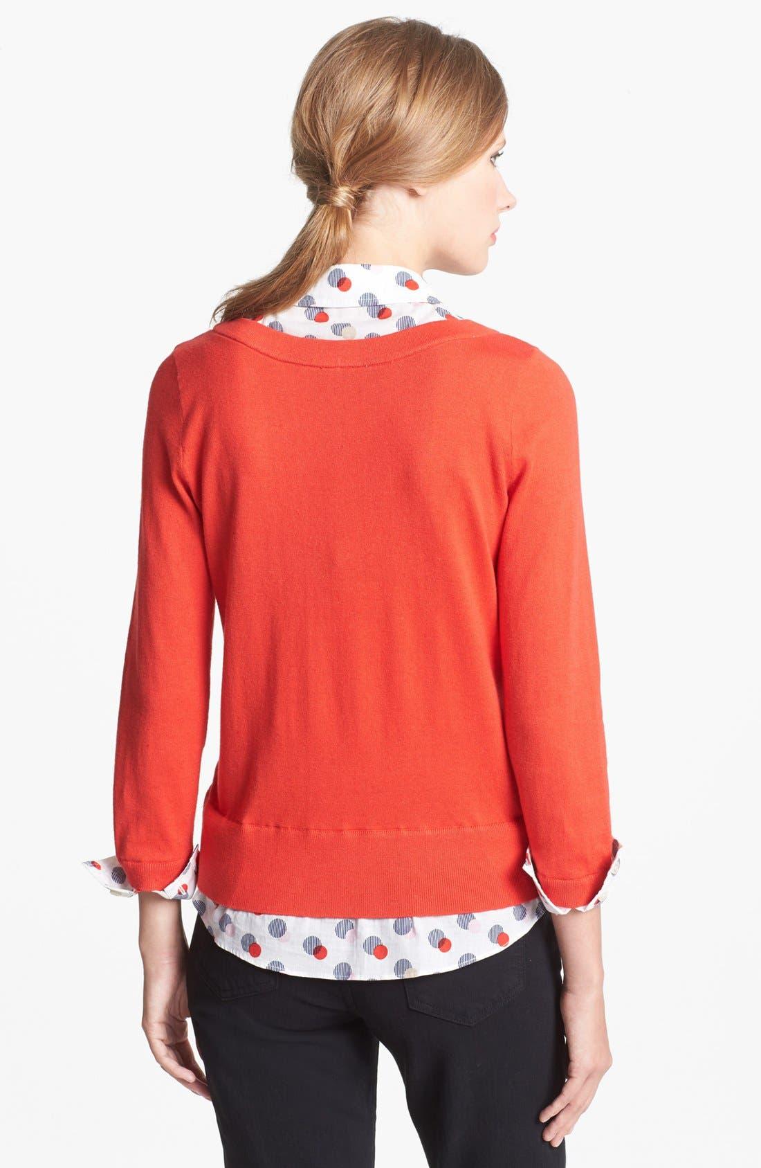 Alternate Image 2  - kate spade new york 'yardley' layered sweater