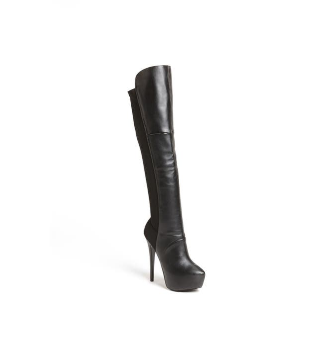 Steve Madden \'Highting\' Over the Knee Pointy Toe Stretch Boot ...