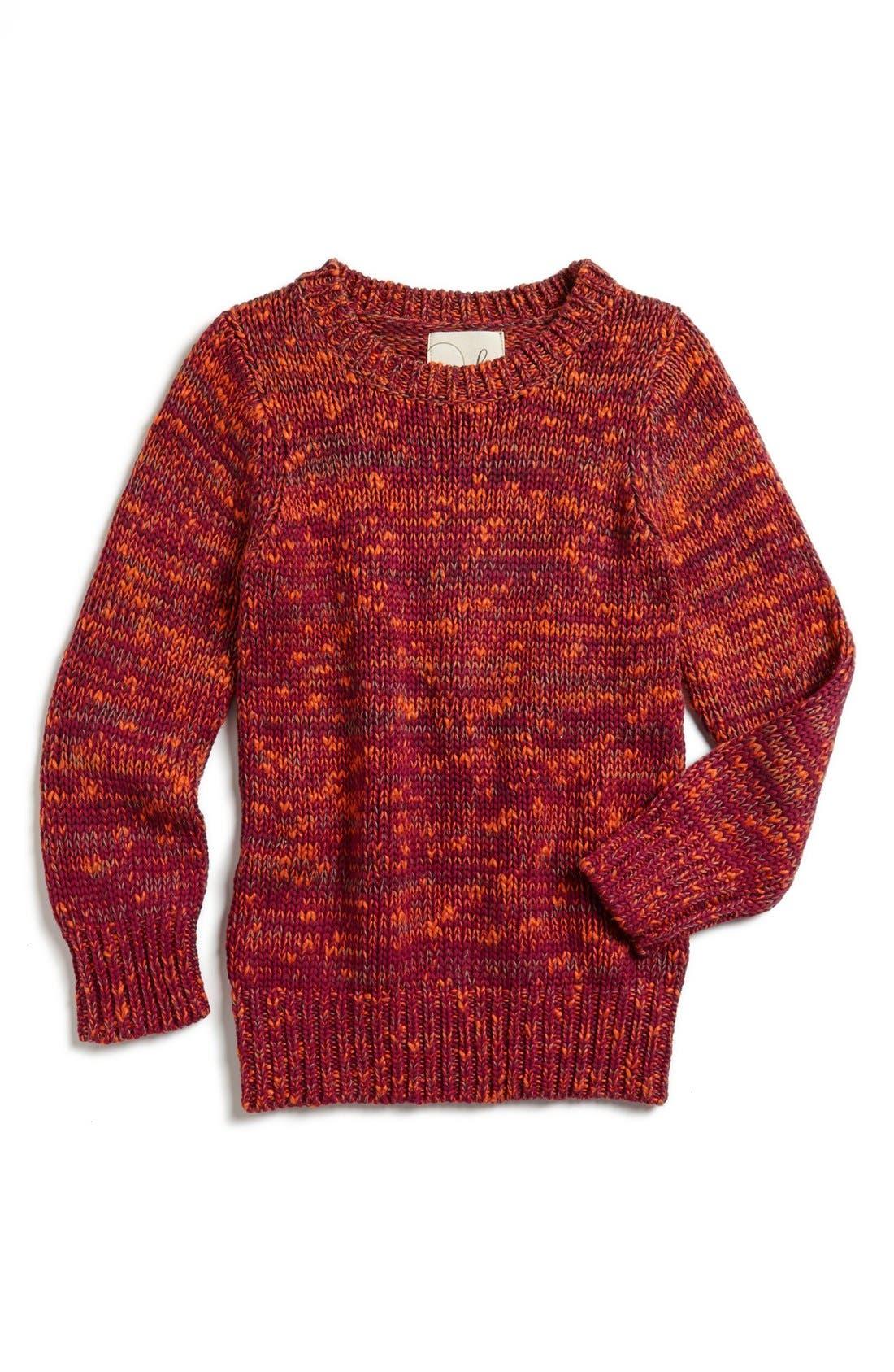 Alternate Image 1 Selected - Peek 'Jenna' Crewneck Sweater (Toddler Girls, Little Girls & Big Girls)
