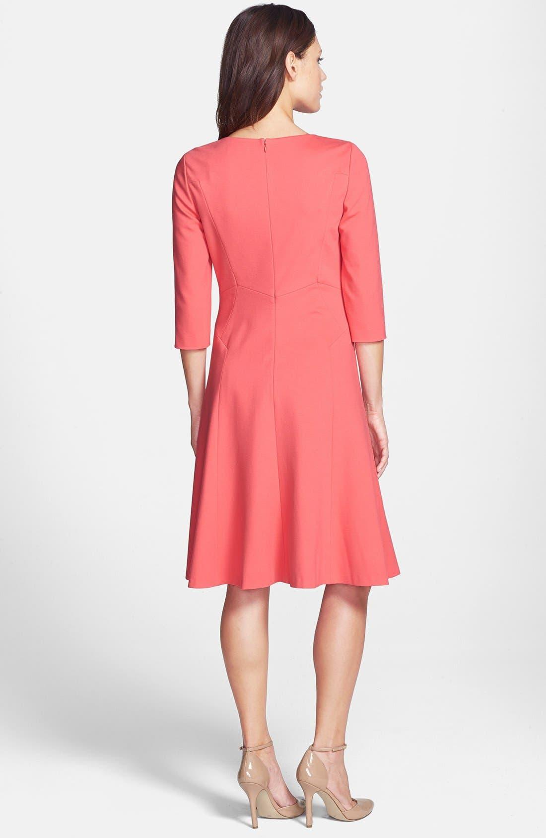 Alternate Image 2  - Classiques Entier® Ponte Fit & Flare Dress