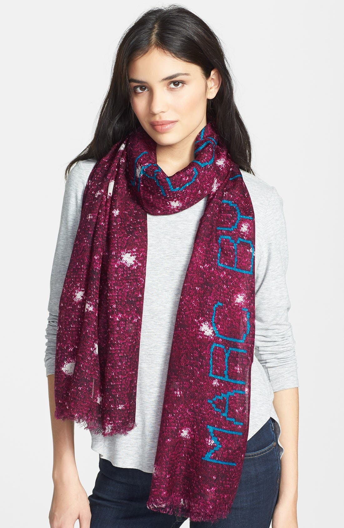 Main Image - MARC BY MARC JACOBS Sequin Print Wool & Silk Scarf