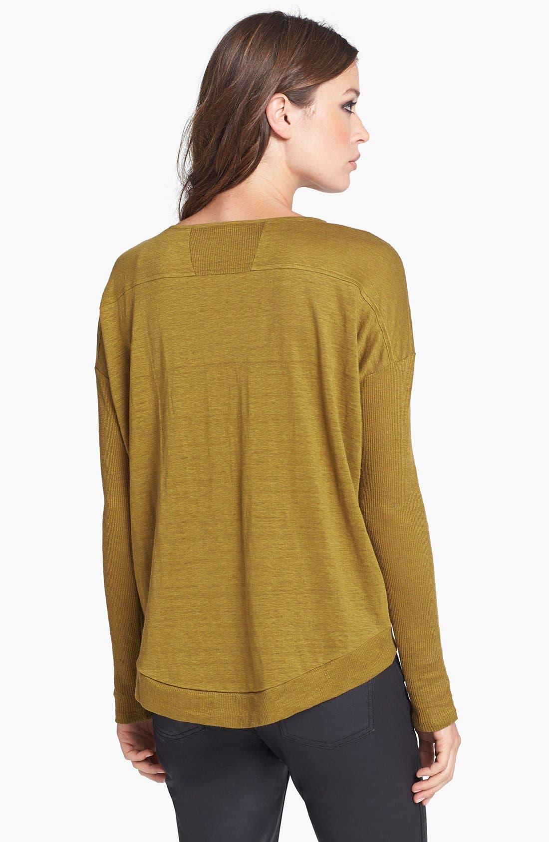 Alternate Image 2  - Eileen Fisher Sloped Hem Organic Linen Top