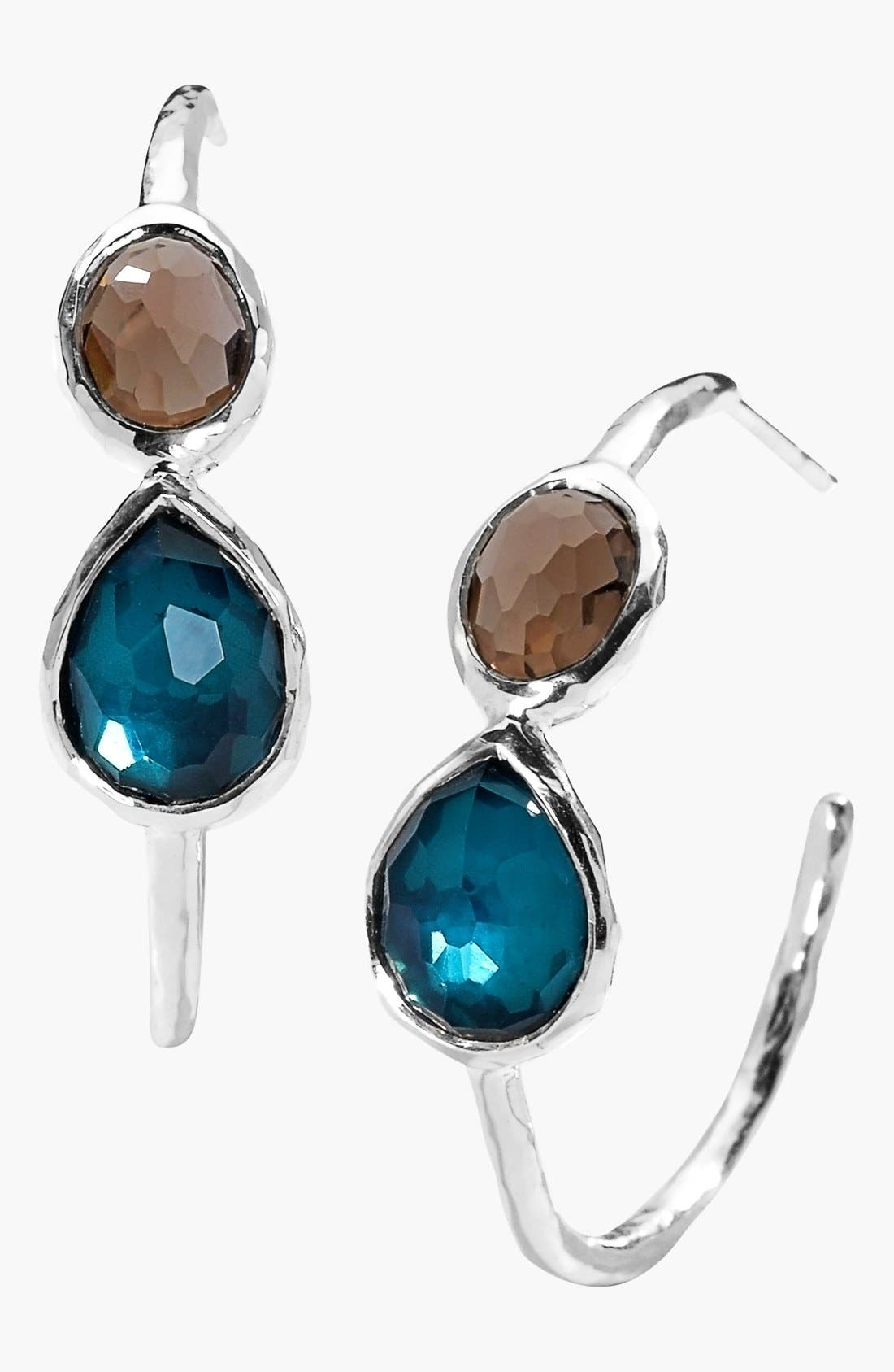 Alternate Image 1 Selected - Ippolita 'Wonderland - Gelato' 2-Stone Hoop Earrings
