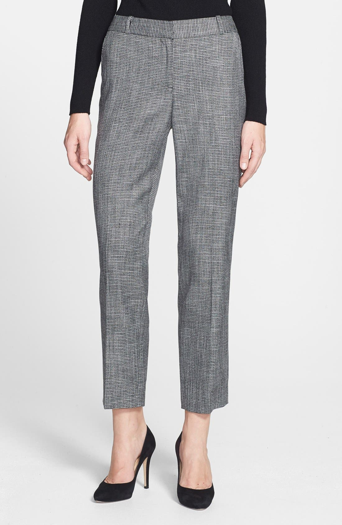 Alternate Image 1 Selected - Classiques Entier® 'Gardenia Houndstooth' Ankle Pants