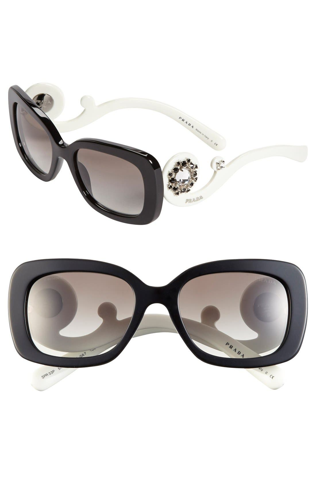 Main Image - Prada 54mm Polarized Sunglasses