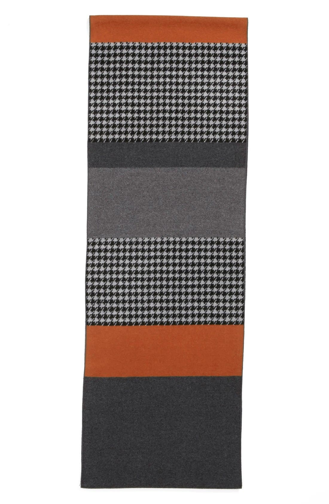 Alternate Image 2  - Chelsey Houndstooth Colorblock Infinity Scarf