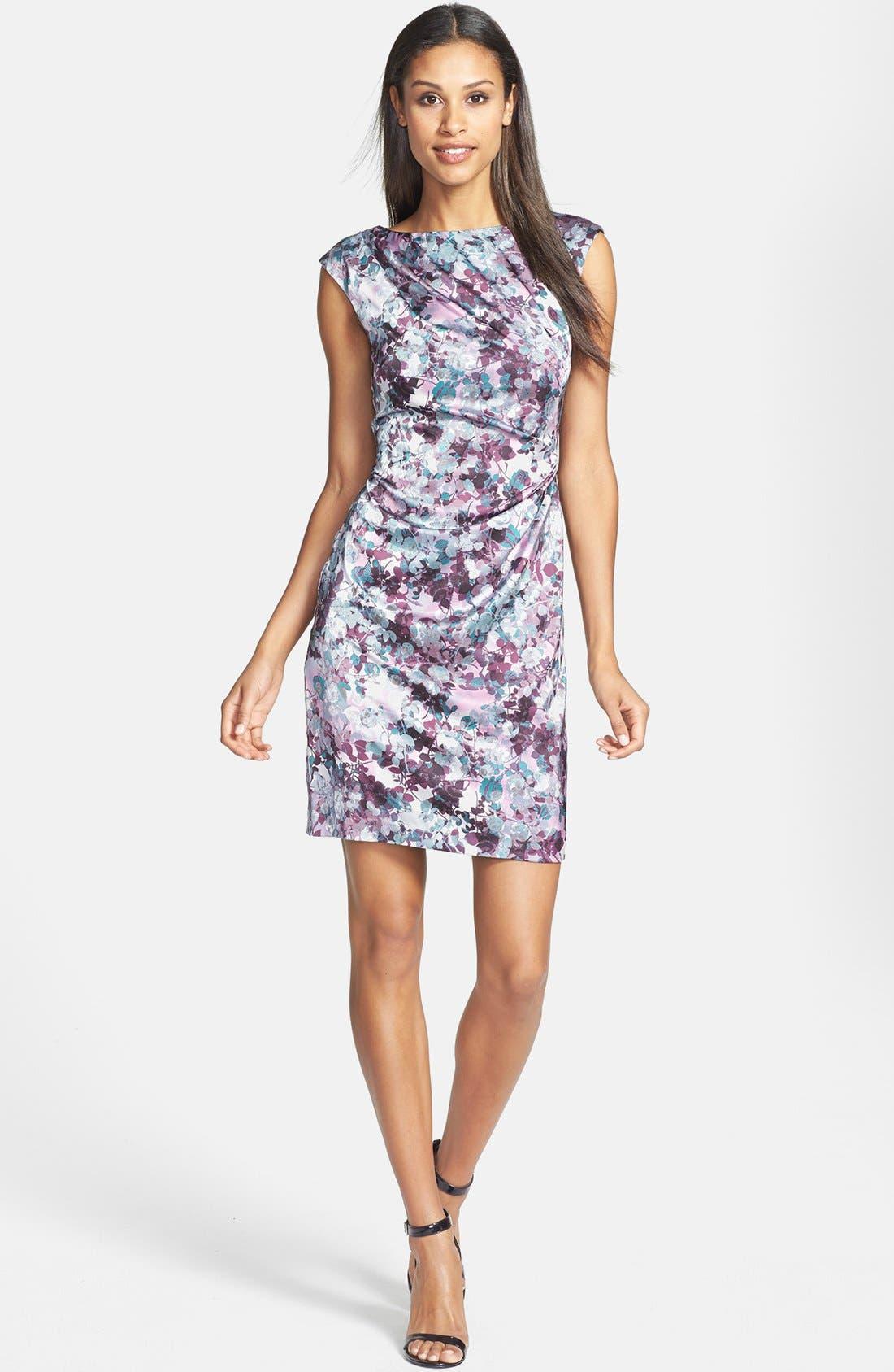 Alternate Image 2  - Ivy & Blue Floral Print Sheath Dress