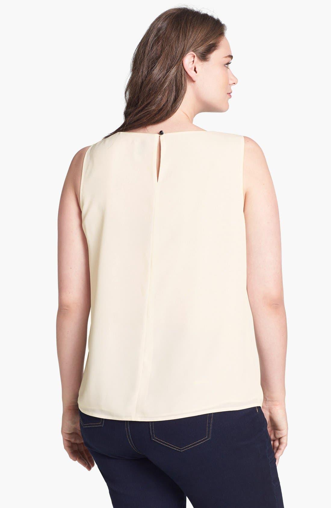 Alternate Image 2  - Anne Klein Embellished Sleeveless Blouse (Plus Size)