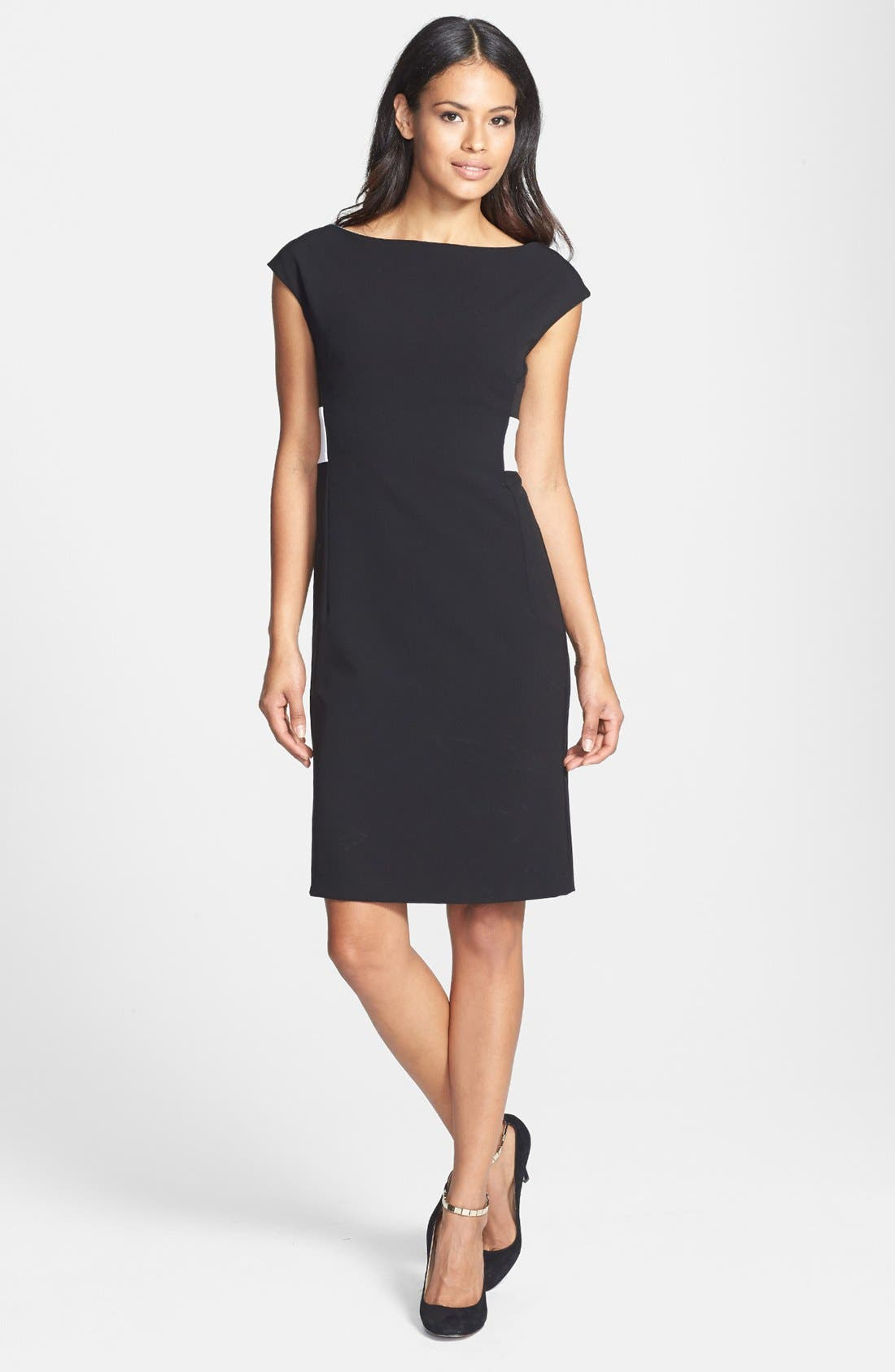 Alternate Image 3  - Isaac Mizrahi New York Back Pleated Shift Dress