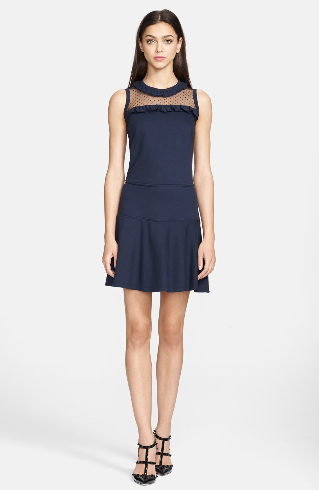 Alternate Image 1 Selected - RED Valentino Interlock Jersey Dress