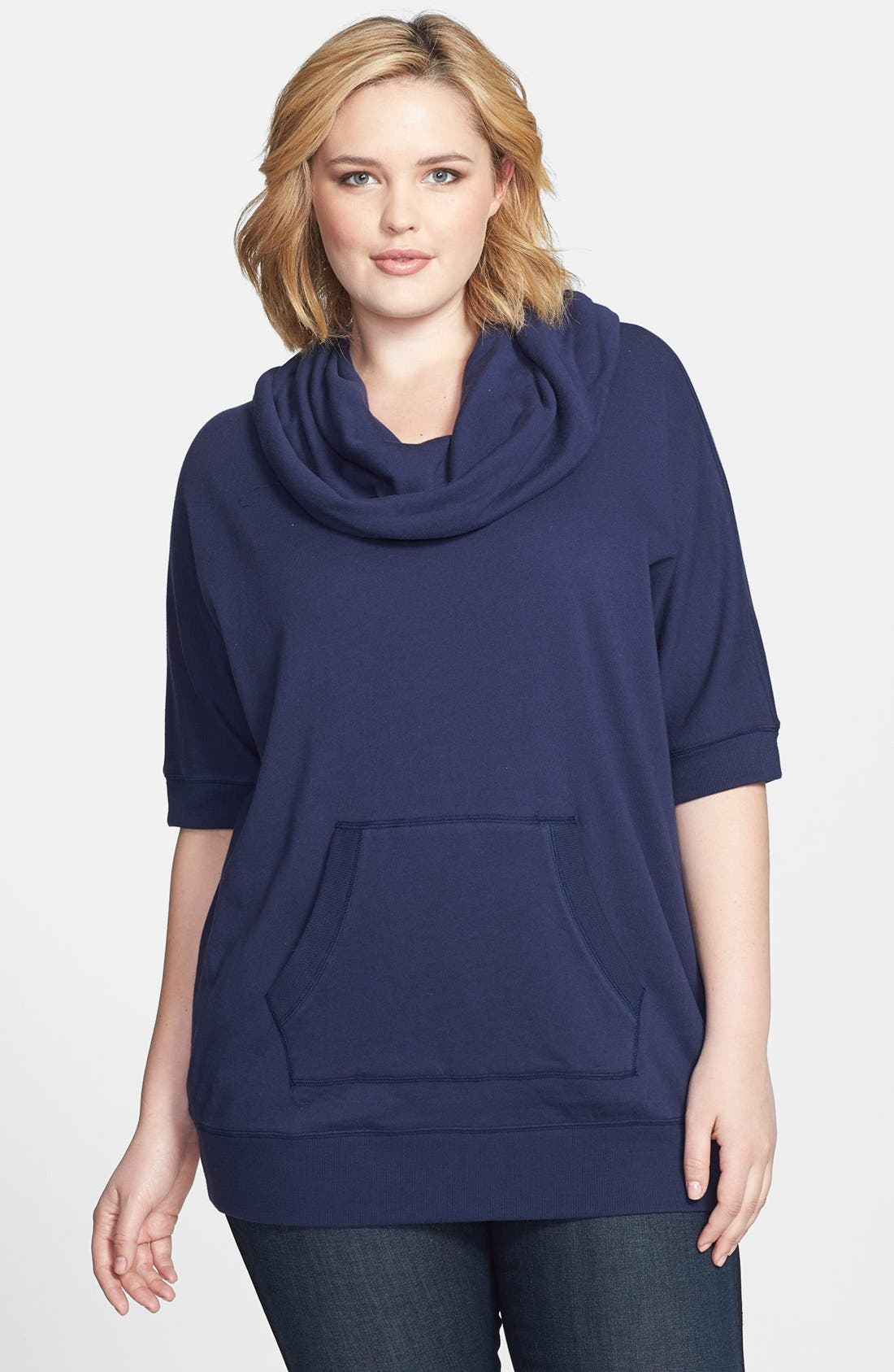 Main Image - Caslon Cowl Neck Pullover (Plus Size)