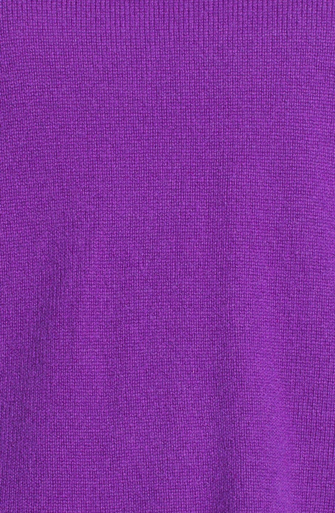 Alternate Image 3  - Halogen® Wool & Cashmere Back Zip Sweater (Petite)