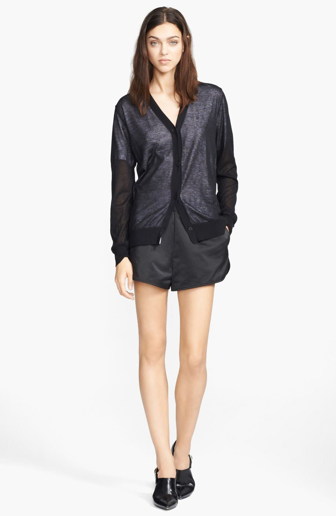 Alternate Image 4  - T by Alexander Wang Satin Track Shorts
