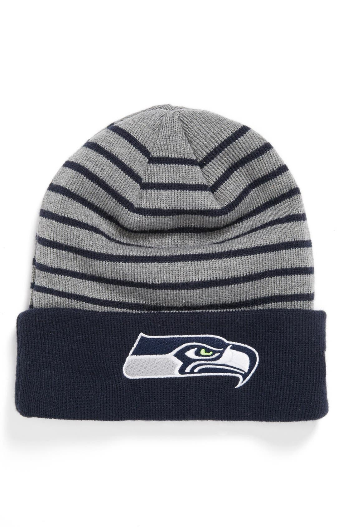Alternate Image 1 Selected - New Era Cap 'H Stripe - Seattle Seahawks' Knit Cap
