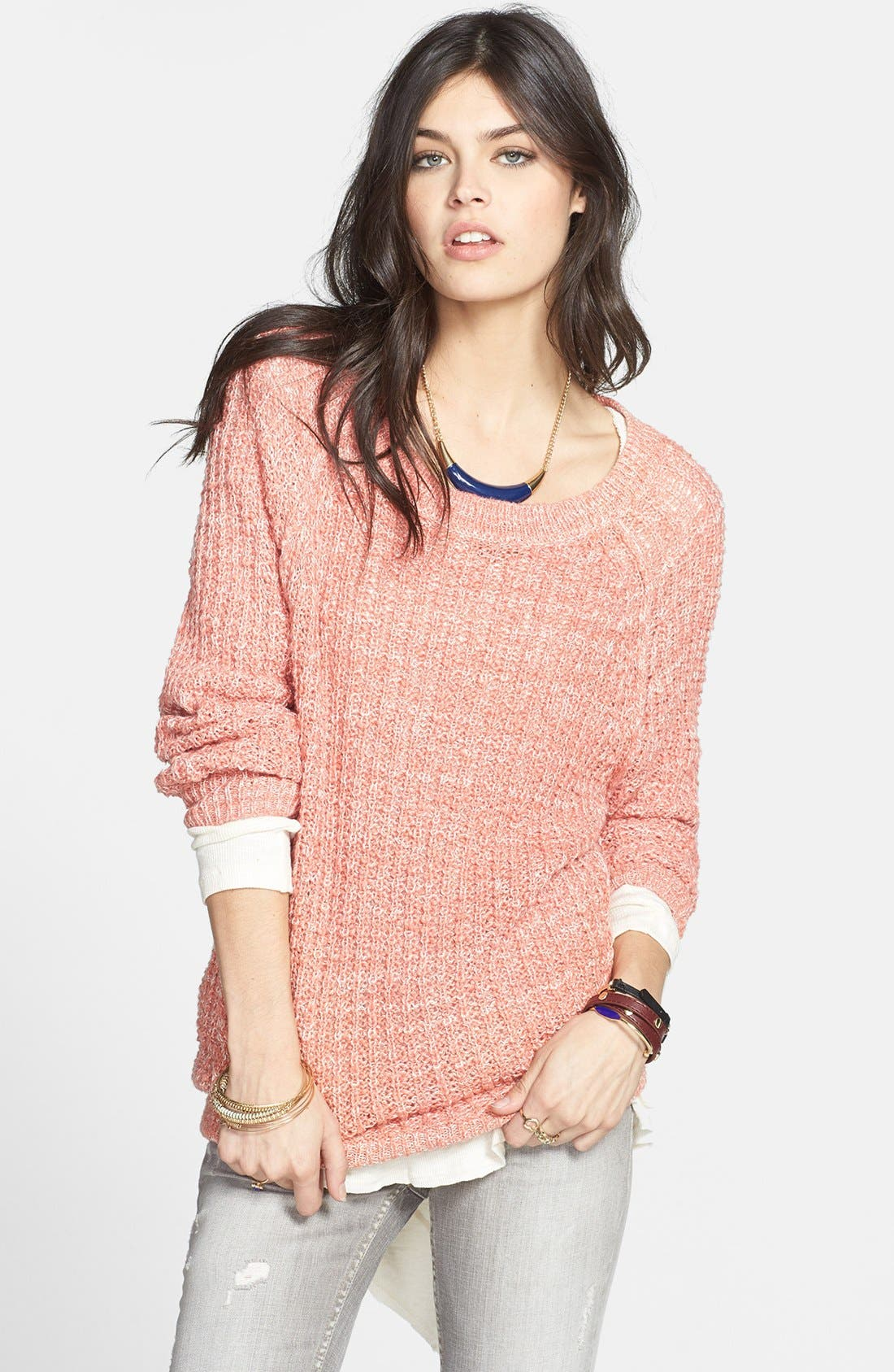 Alternate Image 1 Selected - Free People 'Star Dune' Marled Pullover