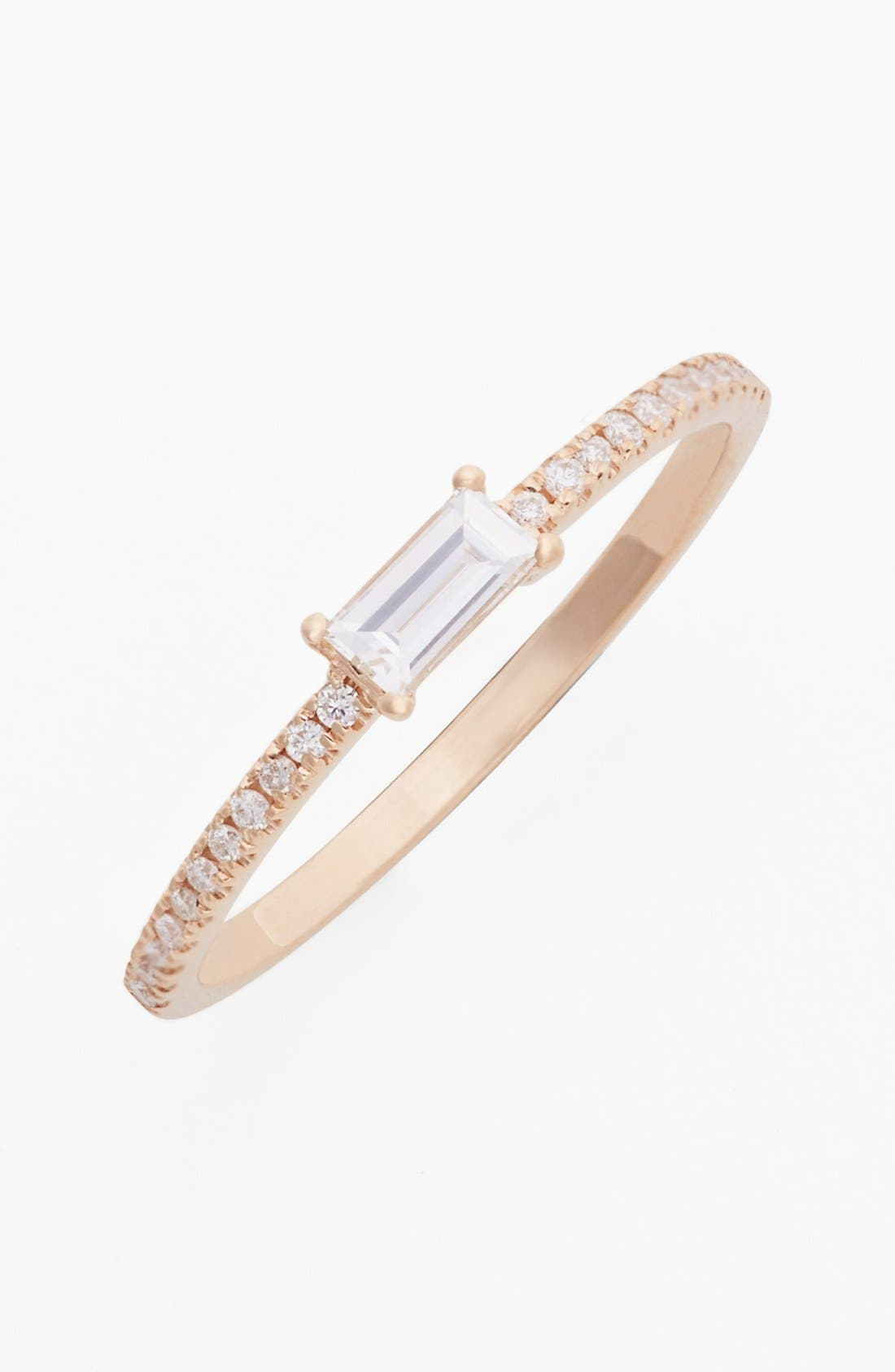 Main Image - Bony Levy Stackable Baguette Diamond Ring (Nordstrom Exclusive)