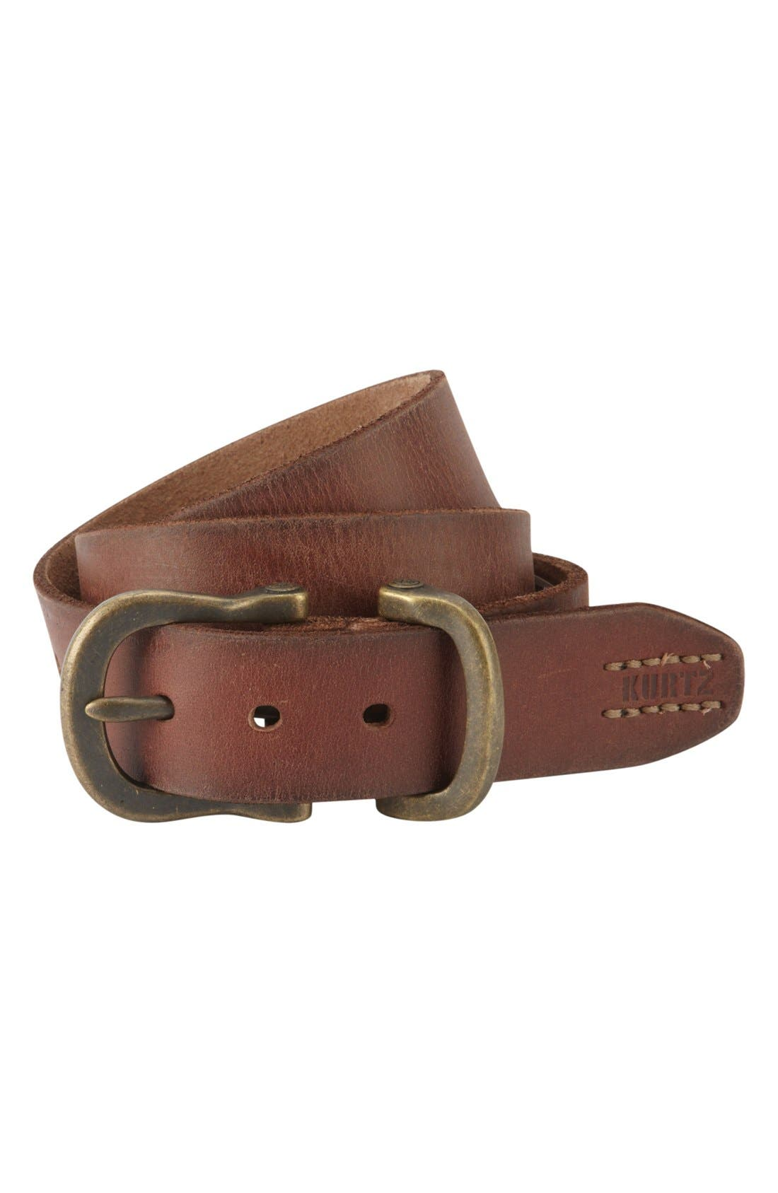 Alternate Image 1 Selected - A. Kurtz 'Dexter' Leather Belt