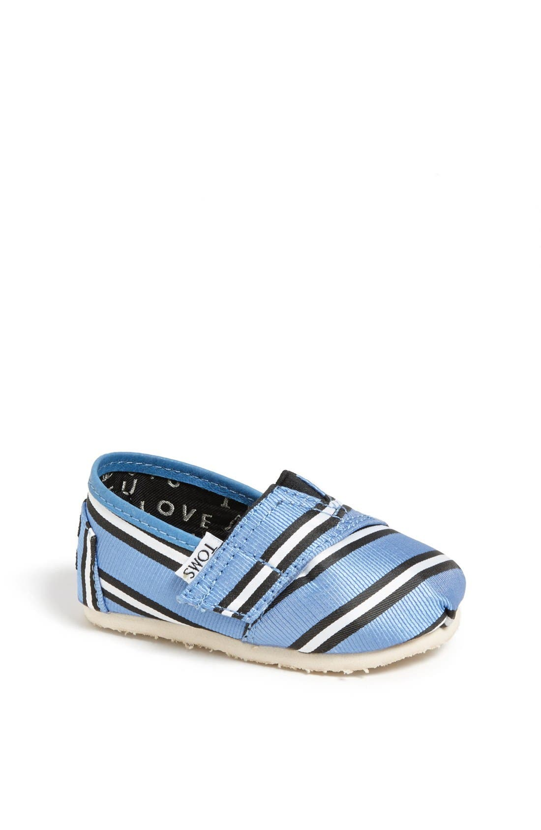 Main Image - TOMS 'Classic Tiny - Tabitha Simmons' Slip-On (Baby, Walker & Toddler)