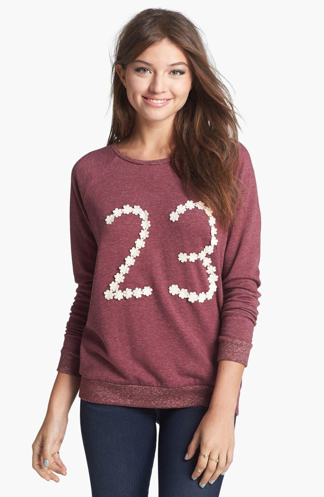 Main Image - Elodie 'Floral 23' Sweatshirt (Juniors)