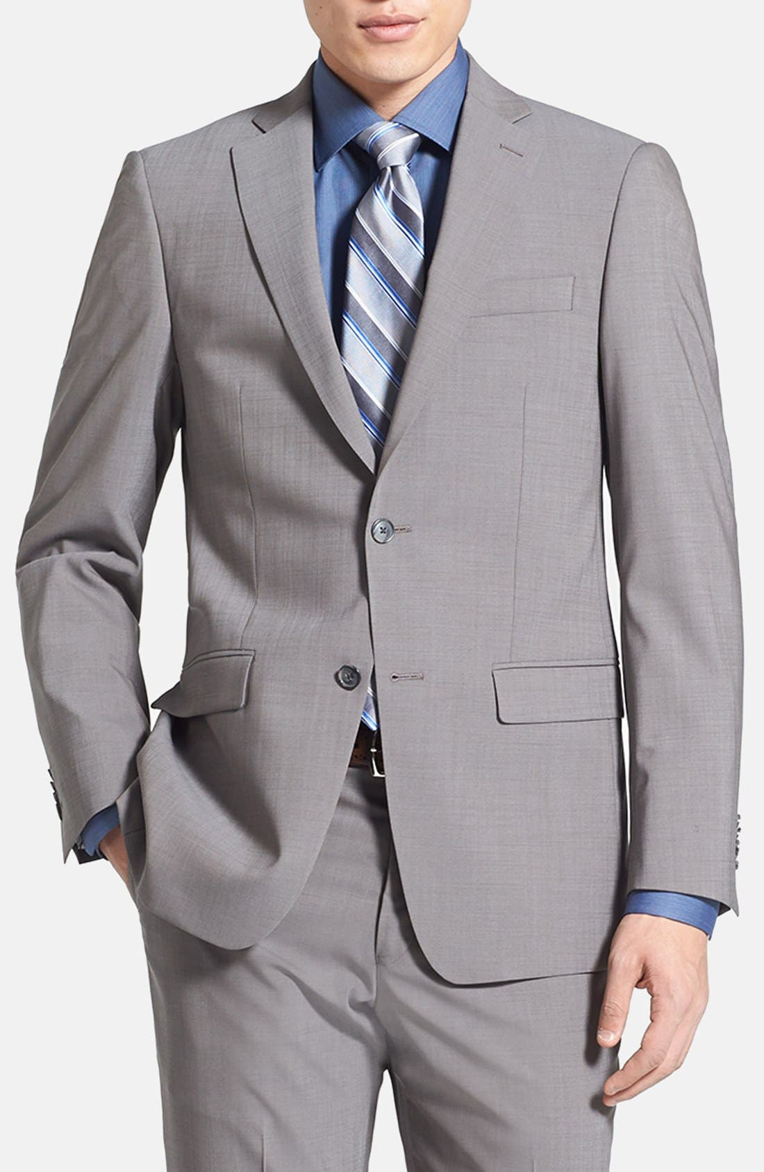 Alternate Image 3  - Michael Kors Trim Fit Stretch Wool Suit