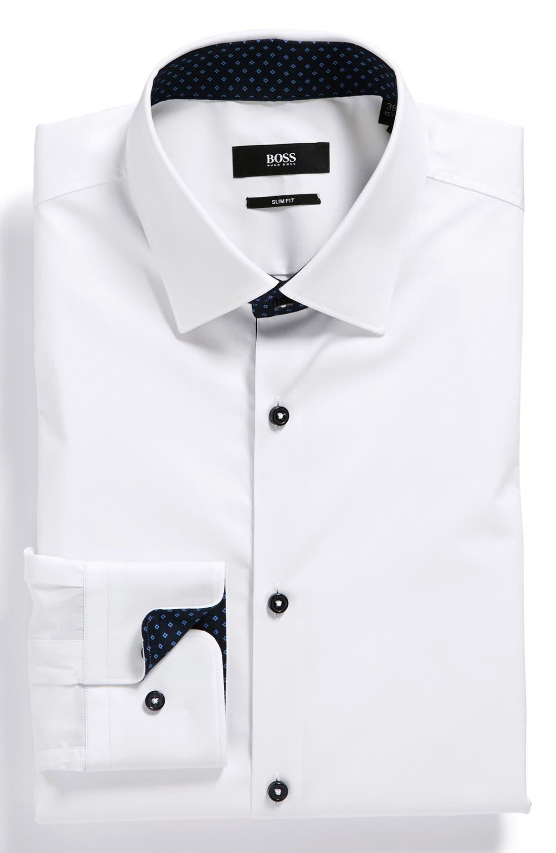 Alternate Image 1 Selected - BOSS HUGO BOSS 'Juri' Slim Fit Dress Shirt