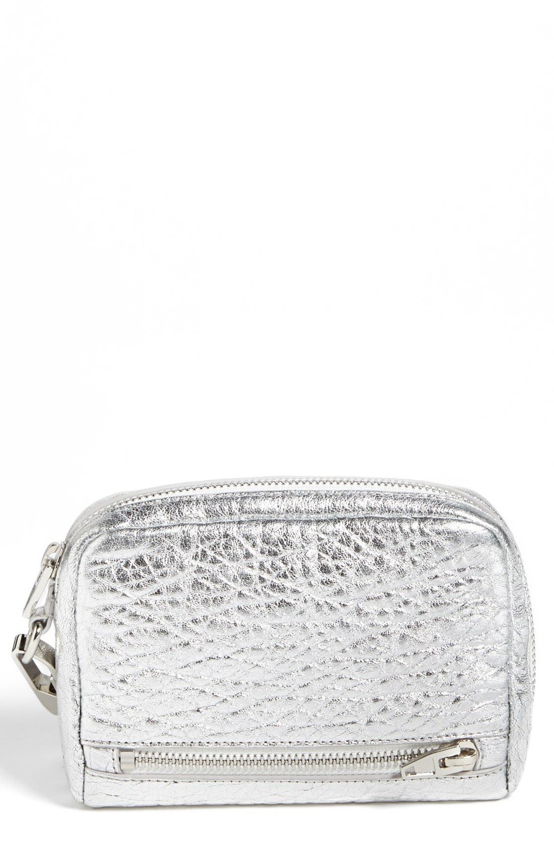 Alternate Image 1 Selected - Alexander Wang 'Fumo - Large' Metallic Leather Wristlet