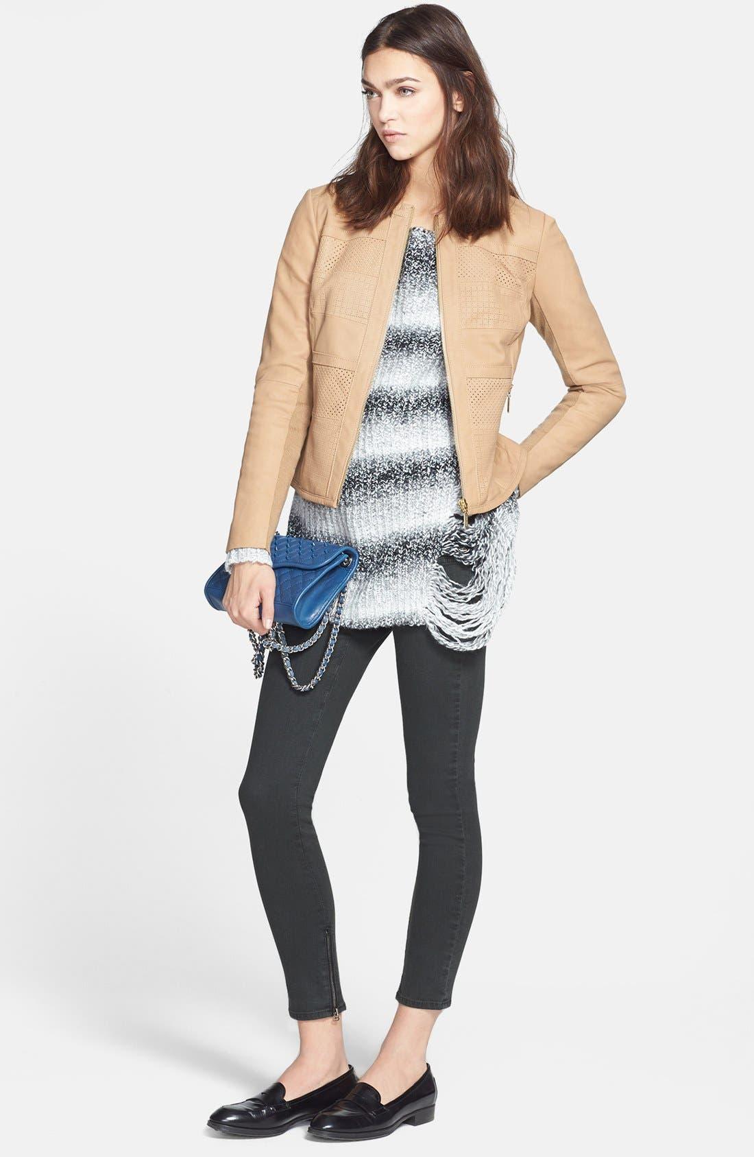 Alternate Image 4  - Bernardo Perforated Leather Jacket (Regular & Petite)