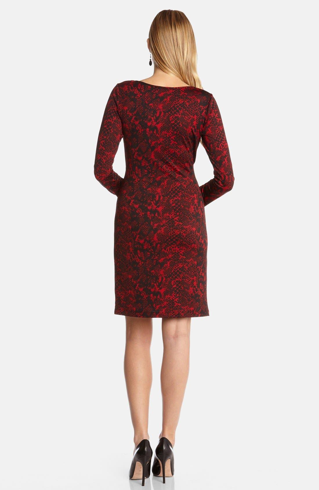Alternate Image 2  - Karen Kane Python Print Faux Wrap Dress