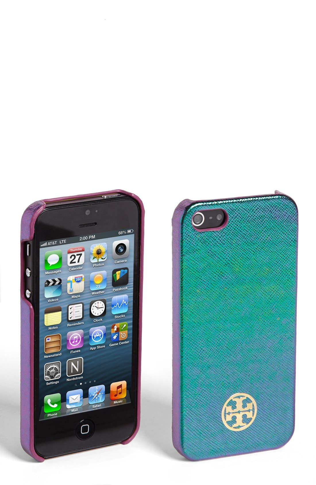Alternate Image 1 Selected - Tory Burch 'Robinson - Hologram' iPhone 5 Case