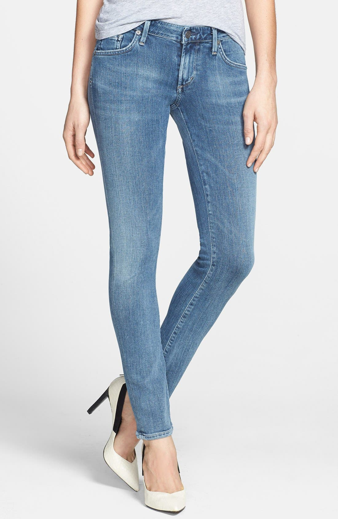 Alternate Image 1 Selected - Citizens of Humanity 'Racer' Low Rise Skinny Jeans (Gaze)