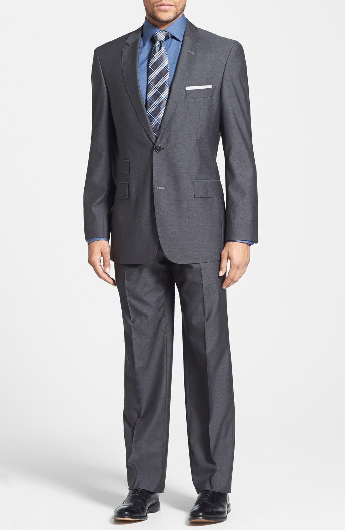 Alternate Image 1 Selected - BOSS HUGO BOSS 'Edison/Power' Classic Fit Wool Blend Suit