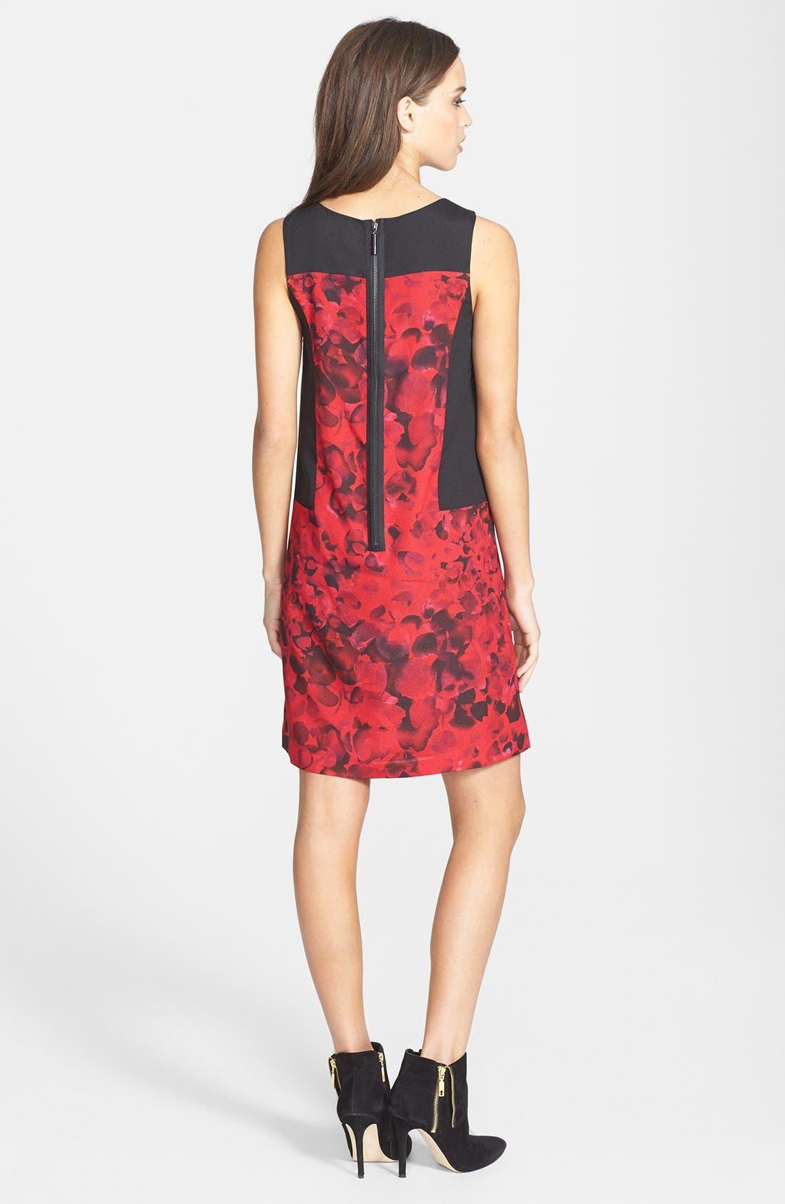 Alternate Image 2  - kensie 'Petals' Crepe Shift Dress