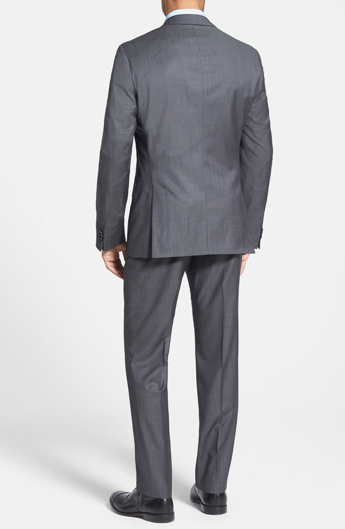 Alternate Image 2  - BOSS HUGO BOSS 'Huge/Genius' Trim Fit Wool Suit