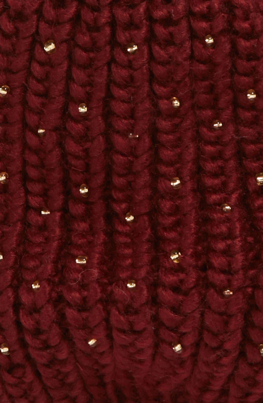 Alternate Image 2  - San Diego Hat Beaded Knit Hat (Girls)