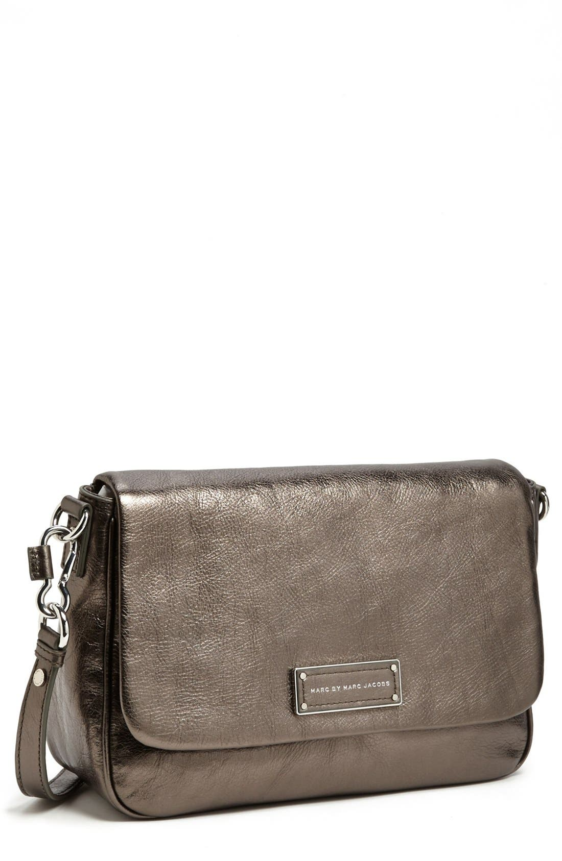 Alternate Image 1 Selected - MARC BY MARC JACOBS 'Too Hot to Handle' Metallic Leather Crossbody Bag